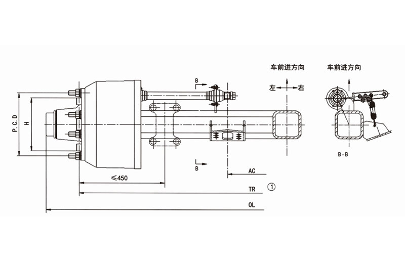 China braked trailer axles factory for aftermarket-1