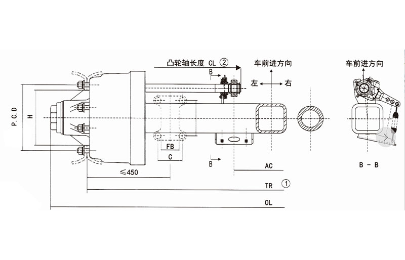 FUSAI perfect design trailer axles from China-1