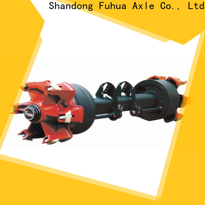 FUSAI China trailer axles with brakes trader for aftermarket