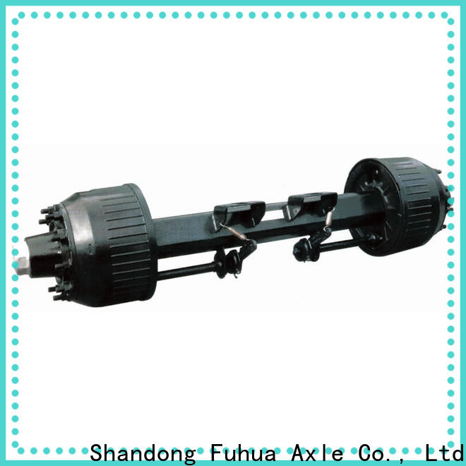 FUSAI 100% quality braked trailer axles factory for truck trailer