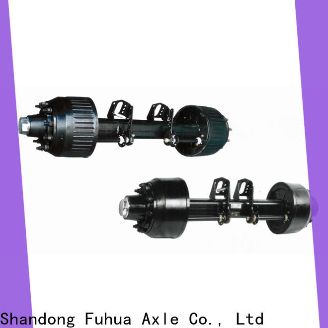 100% quality braked trailer axles manufacturer for aftermarket