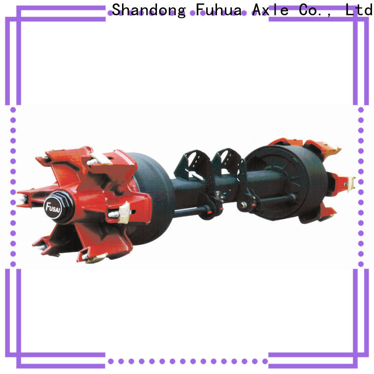 FUSAI high quality trailer axles with brakes wholesale